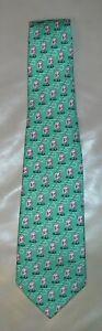 NWT Boy's Vineyard Vines Santa Fly Fishing Printed Tie  Color Green  $49