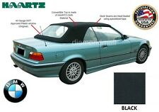 BMW E36 3-Series Convertible Soft Top 1994-1999 Black Stayfast & Plastic window