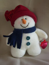 "6"" POLAR FLEECE STUFFED SNOWMAN"