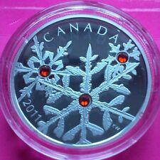 2011 Canadá Copo De Nieve De Jacinto $20 Veinte dólares de plata 1 oz Caja de moneda Coa Nuevo
