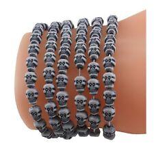 Mini Skull Bracelets Halloween Day of Dead Favors (6)Skulls for Beading CLOSEOUT