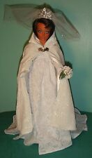 """White Wedding Gown with Cape 18"""" Supersize Barbie / Tiffany Taylor Doll SSWD53"""