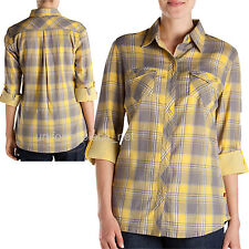 Dickies Women Long Sleeve Shirts DOUBLE FACED PLAID Snap Button Pocket FL050 Top