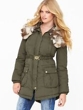 MISS SIXTY  Corbin Padded Coat With Removeable Fur Size M= 12-14 RRP £155