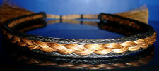 Western Decor Cowboy Woven/Braided Horsehair Sorrel/Black HAT BAND W/Tassles