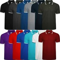 Mens Classic Tipping Polo Top Plus Size T-Shirt Shirt Big And Tall Short Sleeve