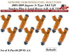 Remanufactured 8X Fuel Injectors OEM DENSO 2004-2005 Jaguar Vanden Plas 4.2L V8