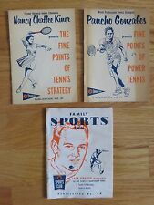 1958-59 JACK KRAMER PANCHO GONZALES NANCY CHAFFEE KINER presents TENNIS Booklets