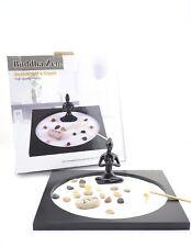Zen Garden Kit Tabletop Decor Meditation Sand Rocks Candleholder Rake Feng Shui