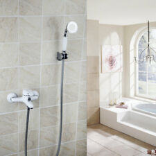 Bathroom Wall Mounted Solid Brass Faucets Mixer Tap White Painting Single Handle