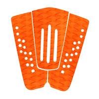 3Pcs Surfboard Traction Tail Pad Skimboard Shortboard Surf Deck Grip Orange