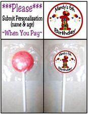 24 Elmo Birthday Party Baby Shower Lollipop Stickers Invitation Seal