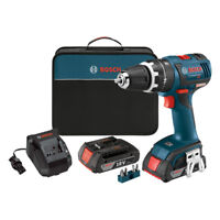 "Bosch 18V Li-Ion 1/2"" Brushless Hammer Drill Kit HDS182-02-RT Reconditioned"