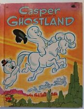 VINTAGE WONDER BOOK~CASPER FRIENDLY GHOST IN GHOSTLAND