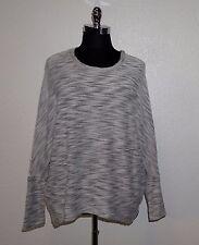 SEVEN7 Marled Knit Drop Shoulder/Batwing Sleeve Layering Shirt Top XL