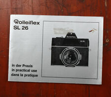 ROLLEI ROLLEIFLEX SL26 INSTRUCTION BOOK/210008