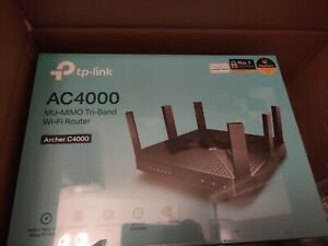 New TP-Link Archer AC4000 Tri-Band Wi-Fi Router  MIMO 1.8Ghz Quad-Core 64 C4000