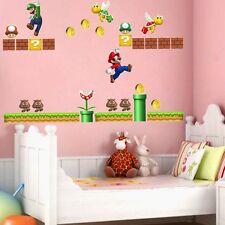 Running Super Mario Removable Wall Sticker Art Decals Vinyl Kids Nursery Decor