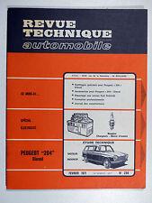 Revue Technique Automobile - PEUGEOT 204 Diesel - Février 1971 - N° 298  Indenor
