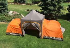 APEX Camping Tent plus Aluminum Instant Canopy w/Walls Sleeps 6 by UNDERCOVER