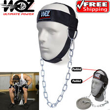 HEAD HARNESS NECK STRENGHT HEAD STRAP WEIGHT LIFTING EXERCISE FITNESS CHAIN BELT