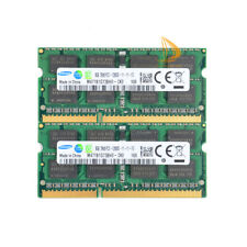 16GB Samsung 2x 8GB PC3-12800 2RX8 DDR3 1600 MHz 204PIN SODIMM Laptop Memory #65