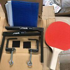 NEW Stiga Privat Metal Table Tennis BLUE Net & Post Set + FREE ping pong Paddle
