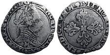 Henri III, Demi Franc au col plat 1590 M, Toulouse