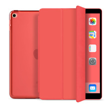 iPad 7th Gen 10.2 in Hard Shell Translucent Case Tri-Fold Flip Smart Cover Stand