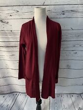 NWT Hippie Rose Maroon Open Front Cardigan Sz L Sweater Top Pockets Long Sleeve