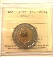 $2 COIN - CANADA 2012 $2 TOONIE GRADED ICCS SP-67 **NO TAX**