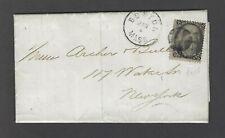 US 1869 2 cent Black Jack #93 F-grill unsealed folded printed matter Boston, Mas