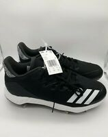 NEW ADIDAS MEN'S BASEBALL CLEATS BLACK SIZE 8 ICON BOUNCE LOW METAL SHOES CG5241