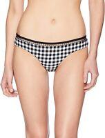 Seafolly Women's 175795 Brazilian La Belle Black Bikini Bottom Swimwear Size 2