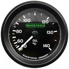 Racetech Oil Temperature Gauge - Mechanical With Back Light &  12ft Capilary