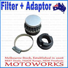 Steel Pod Air Filter Cleaner + Carby Adaptor 49cc PIT Dirt Pocket Quad Bike ATV