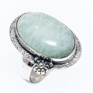 Aquamarine Gemstone 925 Sterling Silver Jewelry Ring Size 10 E819