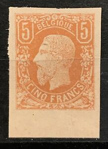 Leopold II - 5 Frank - OBP 37A - Imperforated