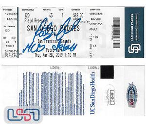 Fernando Tatis Jr. Padres Autographed 3/28/19 MLB Debut Ticket Stub JSA Auth