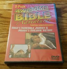 Awesome Bible Adventures: Noah's Incredible Journey & Joshua's Victory (DVD) NEW