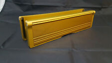 """12"""" Premium Quality Polished Gold Letterbox for UPVC Composite Timber Doors"""