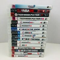 PS3 Sports Lot NBA 2K15 PGA Tour 07 08 Madden MLB FIFA NCAA NHL Sony PS3 Lot 16