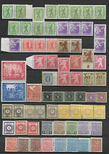 KG04 - GERMANY Berlin Soviet zone collection stamps shades,papers  3 scans
