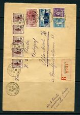 FRANCE 1925 registered envelope to Germany franked 1.80f inc War Orphans Fund