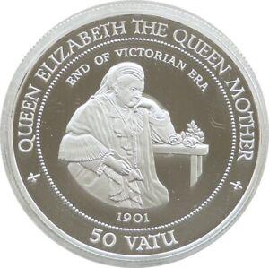 1994 Royal Mint Vanuatu Queen Mother 50 Fifty Vatu Silver Proof Coin