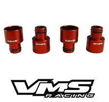 VMS Racing Fuel Injector Adapters RDX Injectors to B16 B18 D16Z D16Y - Red
