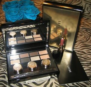 Bobbi Brown LUXE EYE SHADOW & LONG-WEAR GEL Palette + Mini BROWNIE Lipstick RARE