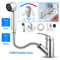 Durable Pull-Out Spray Kitchen Faucet Swivel Spout Sink Single Handle Mixer Tap