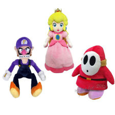 3pcs Super Mario Bros Waluigi & Shy Guy & Princess Peach Plush Doll Figure Toy