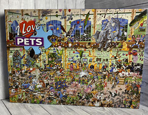 I Love Pets Gibsons Mike Jupp's 1000 Piece Jigsaw Puzzle - Funny Humour Comic
